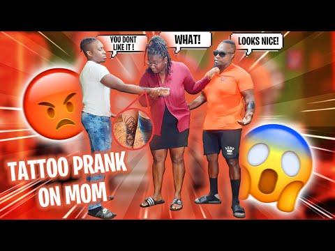 TATTOO Prank On MOM!! **BAD IDEA**