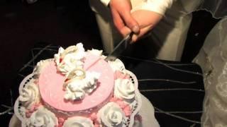Невеста кидает букет(Свадьба Марии и Олега(конец).VOB