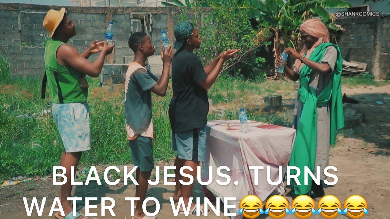 Shank Comics – Black Jesus Turns Water To Wine