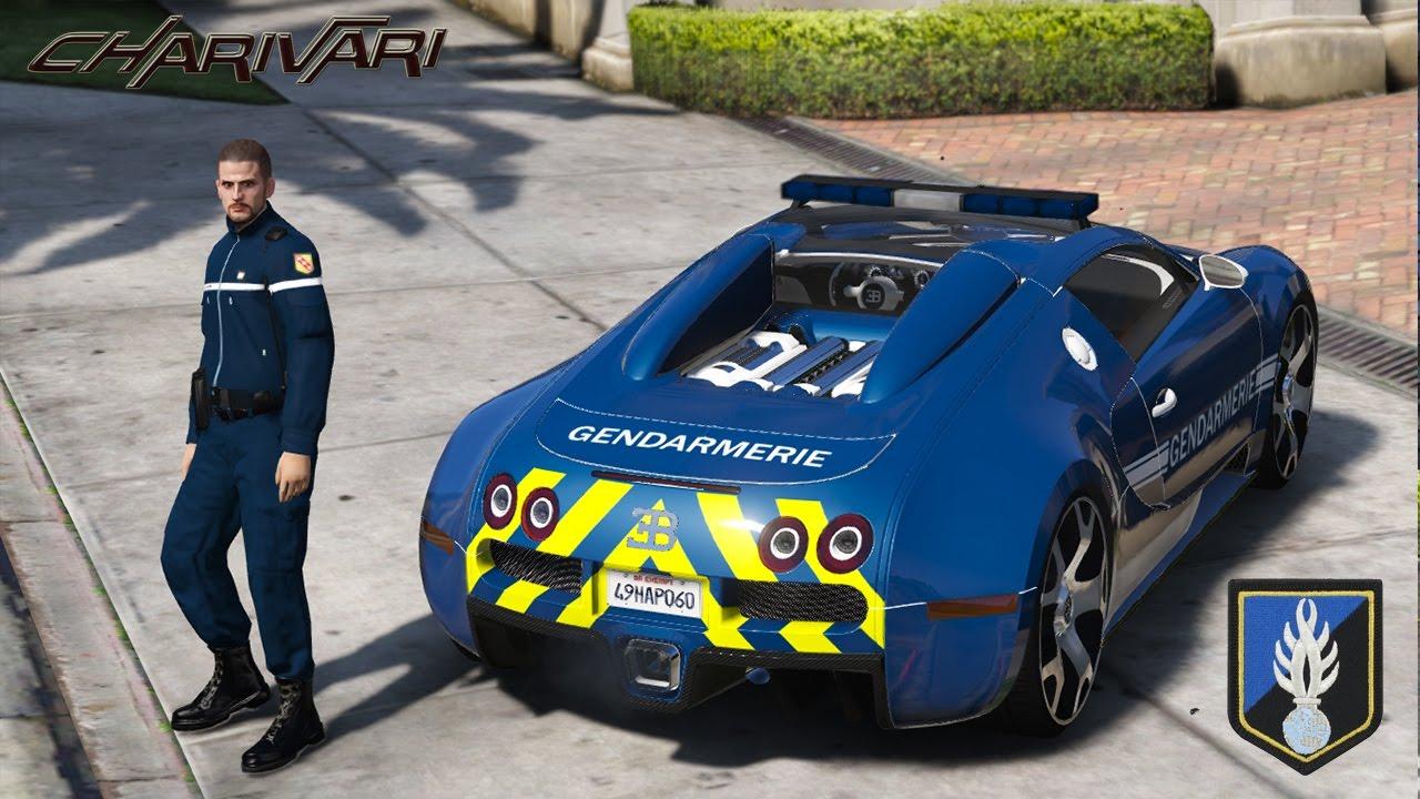 gta 5 lspdfr - gendarmerie nationale - bugatti veyron - patrouille 09