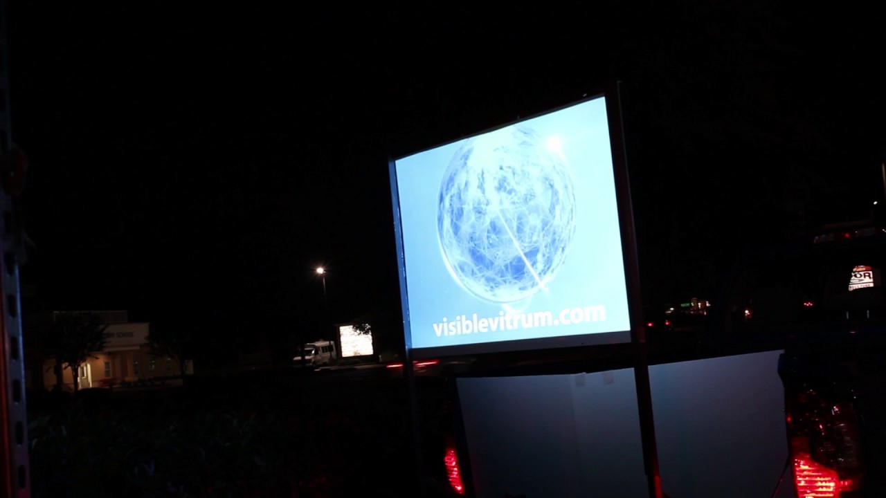 portable projector screen outside movie projector youtube