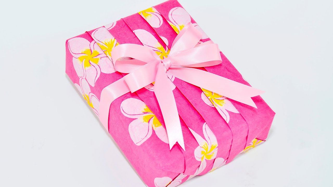 Japanese Pleats Style Gift Wrapping ~Basic Straight Design~