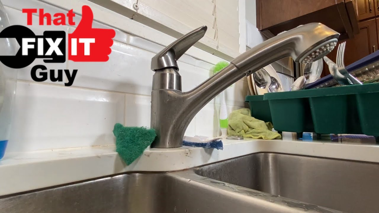 Repairing A Grohe Kitchen Faucet Leaking At Handle May Just Be A Loose Part Youtube