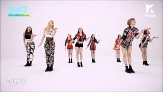 Twice 'like ooh ahh' mirrored dance performance
