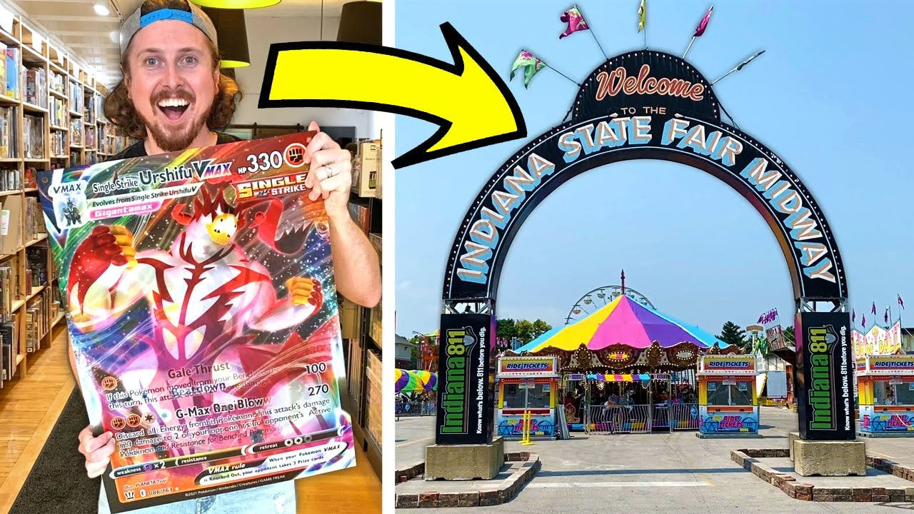 SECRET REVEALED - Hidden Pokemon Cards at the Indiana State Fair!