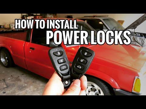 How To Install Power Locks Mazda B2200 B2000