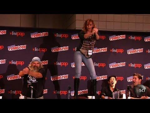 Kari Byron Table Dances at Comic Con  Punkin Chunkin
