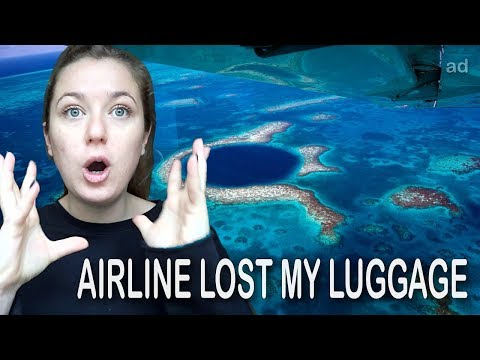 AIRLINE LOST MY LUGGAGE and then this happened... | Belize Travel Vlog #1