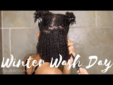 Winter Wash Day Routine for Growth + Moisture
