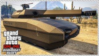 GTA 5 Doomsday Heist   TM-02 KHANJALI Tank in Single Player (DOOMSDAY HEIST DLC IN SINGLE PLAYER)