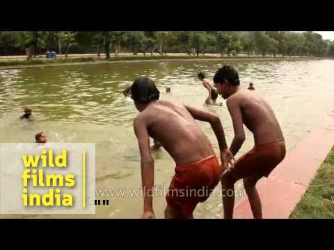 Village girl bathing outdoor and took a self - 1 4