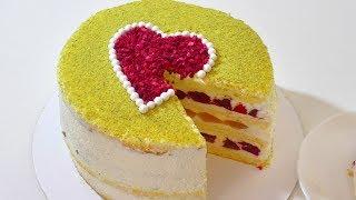 Ооочень вкусный торт .Very delicious cake.