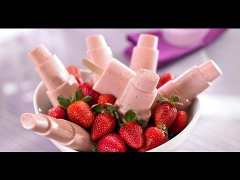 Cómo Hacer Paletas De Fresa Con Yogurt Receta De Paletas Receta De Postres
