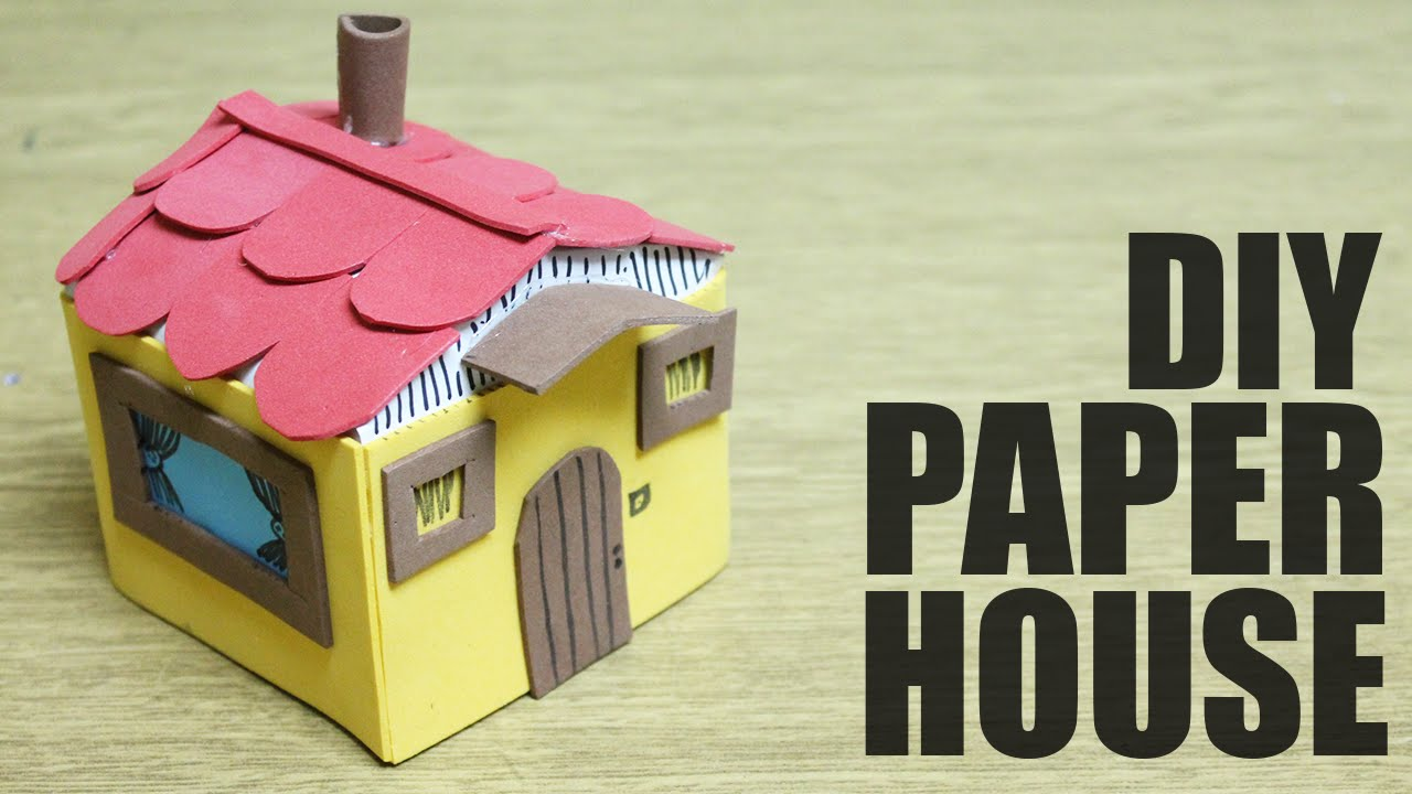 How to make a toy house crafts for kids youtube for House made by waste material