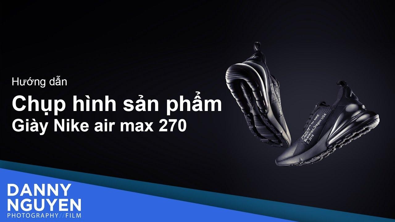 Hướng dẫn chụp ảnh giày thể thao Nike Air Max 270 Off-White Black với 1 đèn flash rời (speedlite)