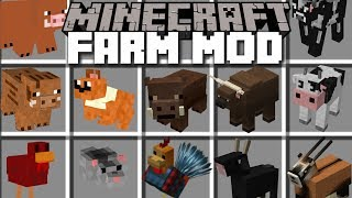 Minecraft FARM ANIMALS MOD / HELP BUILD YOUR BARN AND LET THE ANIMALS SURVIVE!! Minecraft
