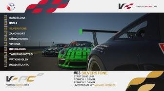 iRacing | Porsche Cup VII 2020 – Lauf 3 @ Silverstone Circuit – Virtualracing.org