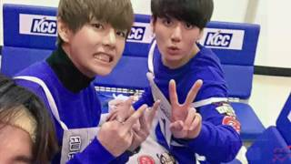 vkook moments during isac 2016