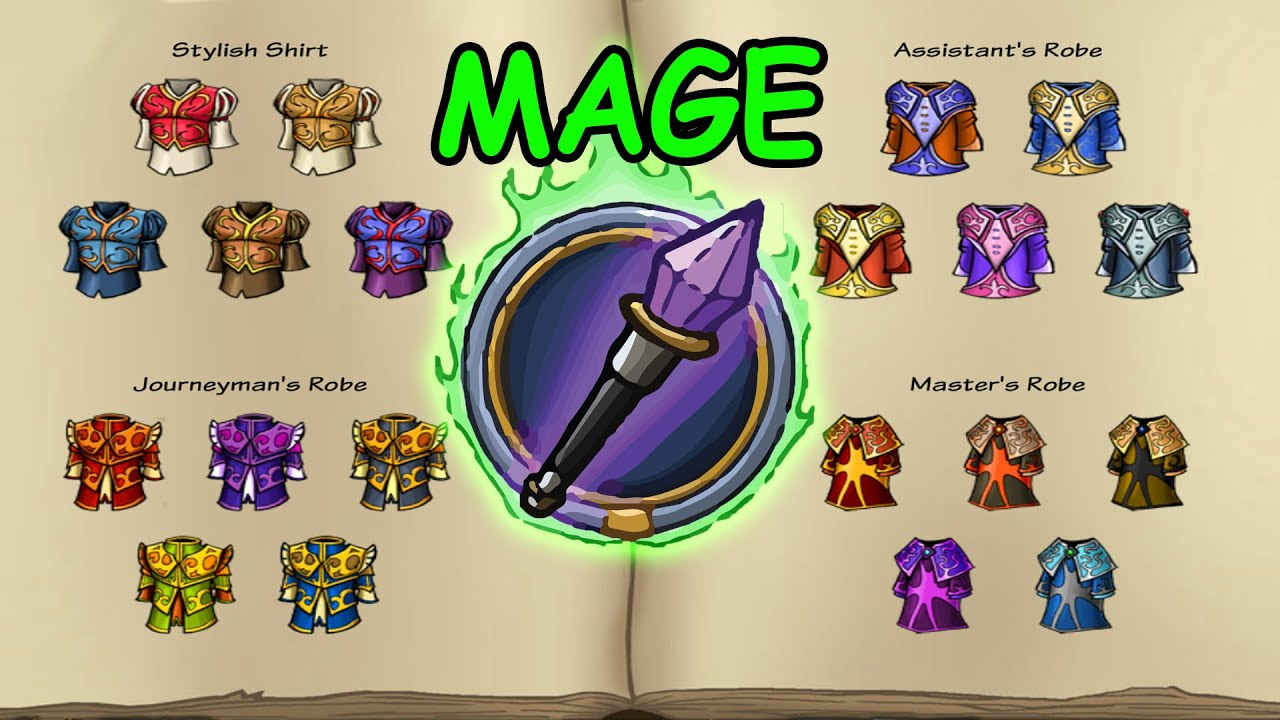 Shakes And Fidget All Epics Items Mage