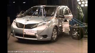 2015-2016 Toyota Sienna NHTSA Side Impact