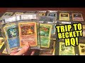 *MAN'S POKEMON CARDS COLLECTION WORTH THOUSANDS!* Trip to Beckett Grading HQ!