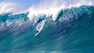 BIG WAVE SURFING COMPILATION  ** BALLS TO THE WALL ** 2017
