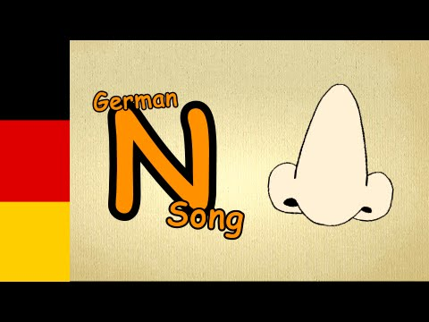 alphabet song in german  letter NSong  nursery rhymes german for children with subtitles
