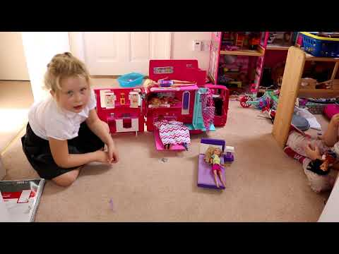 Playing Barbie Sleepover with my dolls