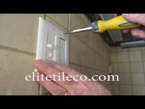 How totile around an electrical outlet, Kitchen backsplash