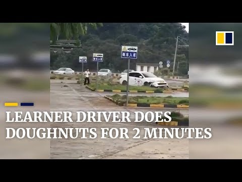 Bob Hauer - Student Driver Accidentally Does Donuts For Two Minutes
