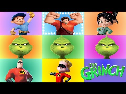 The Grinch Movie Slime Game with Incredibles Jack Jack and Wreck-It Ralph Toys
