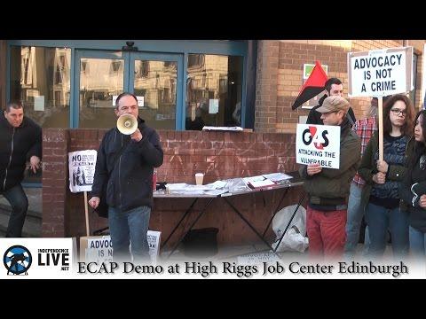 ECAP HIGH RIGGS JOB CENTRE Demo  Edinburgh 14/03/2016
