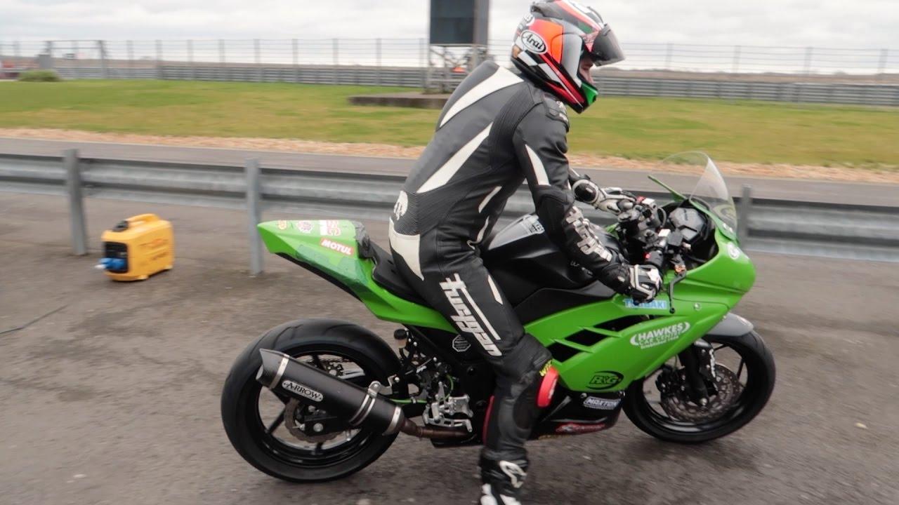 Road Racing On Kawasaki Ninja 300 And Crash Minibikes Youtube