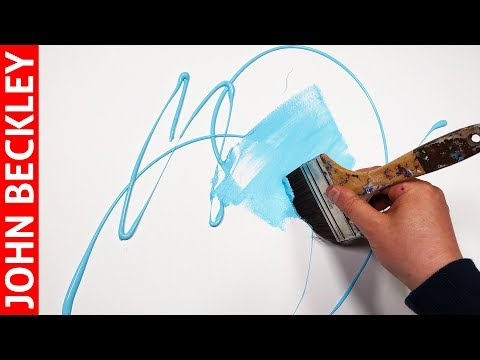 Art Abstrait - Démonstration Peinture Acrylique  | Merus