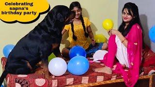 my dog jerry celebrating sapna's birthday party||funny dog videos.