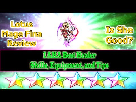 Final Fantasy Brave Exvius 6 stars Lotus Mage Fina Review: Who's better? Ayaka or Her?(#362)