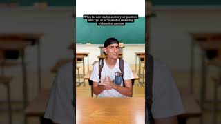 WHEN THE NEW TEACHER FINALLY ANSWER WITH A YES OR NO | TIKTOK #Shorts