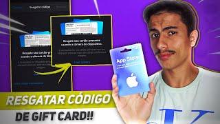 Como usar o Gift Card da Apple Store | Resgatar o código!