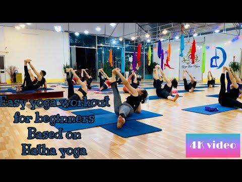 easy yoga workout for beginners based on hatha yoga
