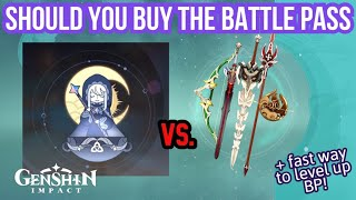 Should You Buy the Battle Pass \u0026 How to Level It Fast Without Resin! - Genshin Impact