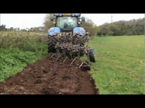 ploughing the maize field. part 1