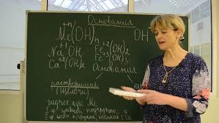 """Урок химии для 8 классов по теме """"Основания"""" (учитель Швецова Елена Евгеньевна)"""