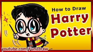 How to Draw Super CUTE Harry Potter - Fun2draw style