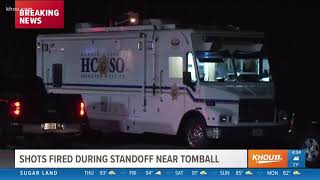 Shots fired during standoff near Tomball