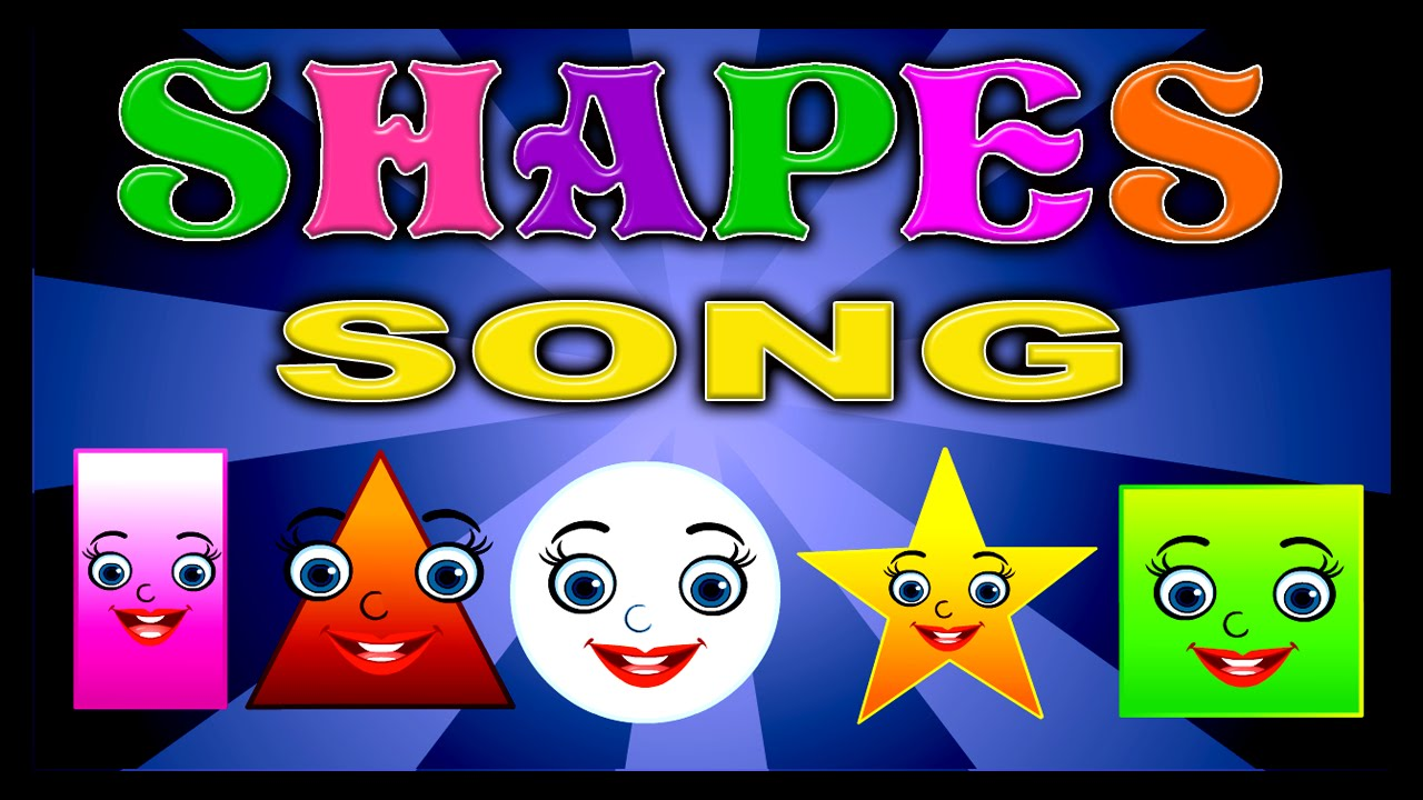 Shapes Song For Children Shapes Rhymes For Kids Learn