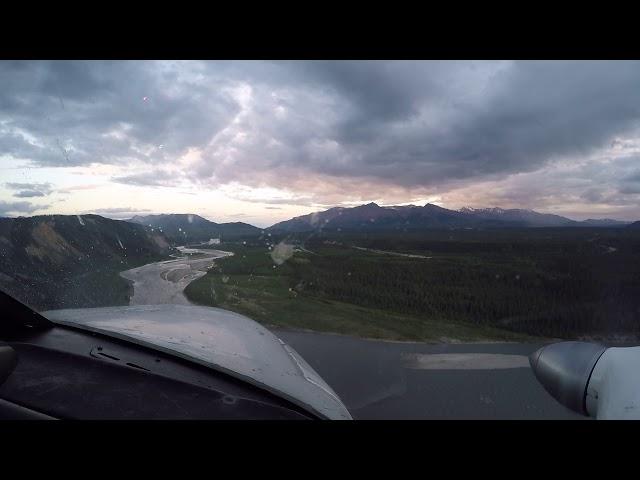 Landing Navajo at Healy River Airport (HRR)