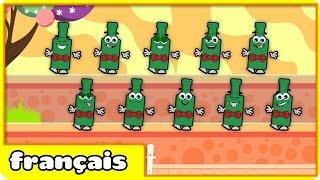 Numéros Chanson Ten Green Bottles pour les enfants Par Hooplakidz Français