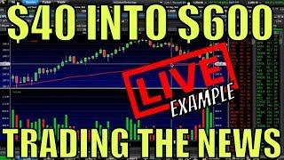 $40 Into $600 Trading The News – How To Make Money Fast Trading Weekly Options