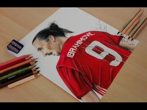 Drawing Zlatan Ibrahimovic - Manchester United