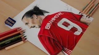 Drawing Zlatan Ibrahimovic - Manchester United